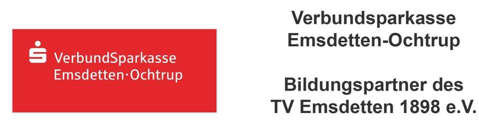 Die Verbundsparkasse Emsdetten Ochtrup ist Bildungspartner des TVE