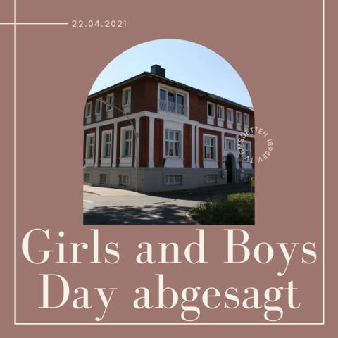 Girls and Boys Day beim TVE abgesagt