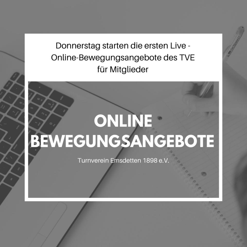 Live Online Bewegungsangebote starten