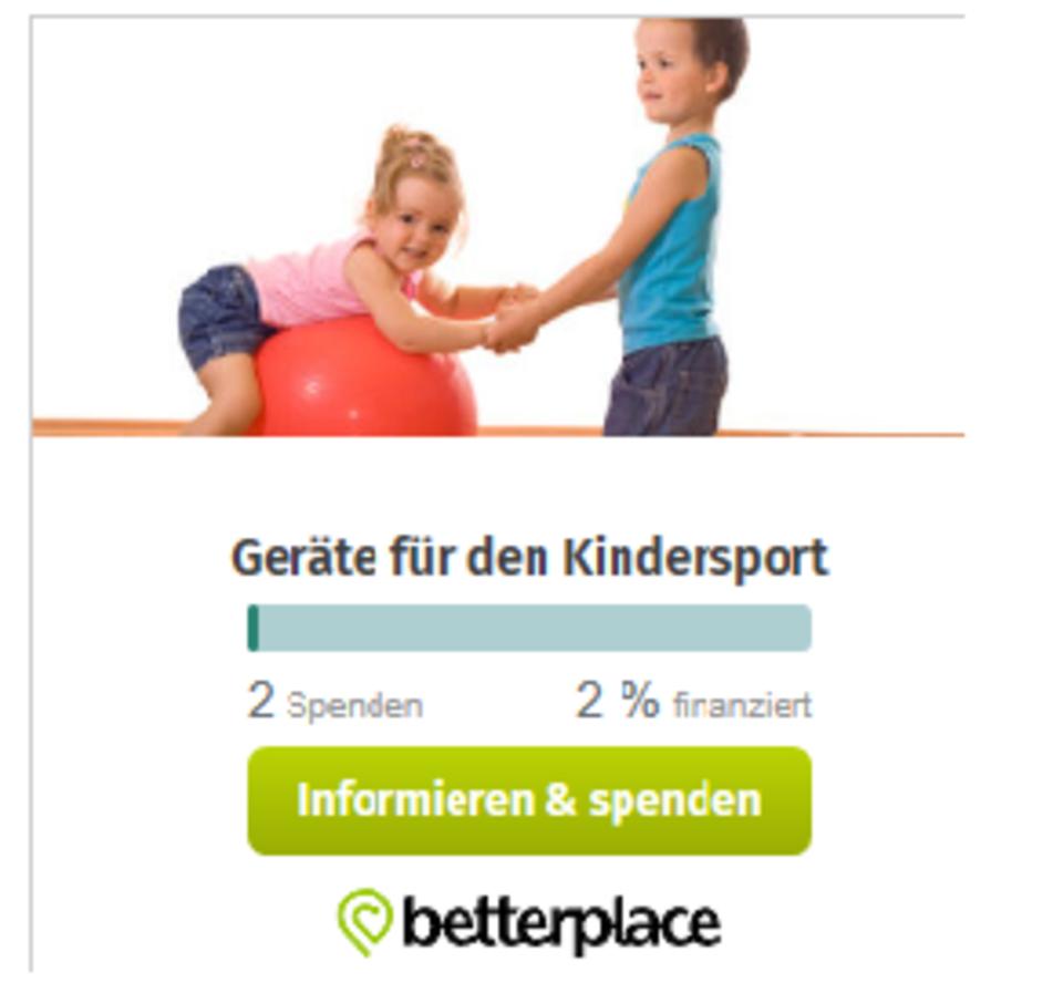 Deine Spende für neue Sportgeräte für den Kindersport im TVE