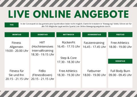 Online Live Bewegungsangebote