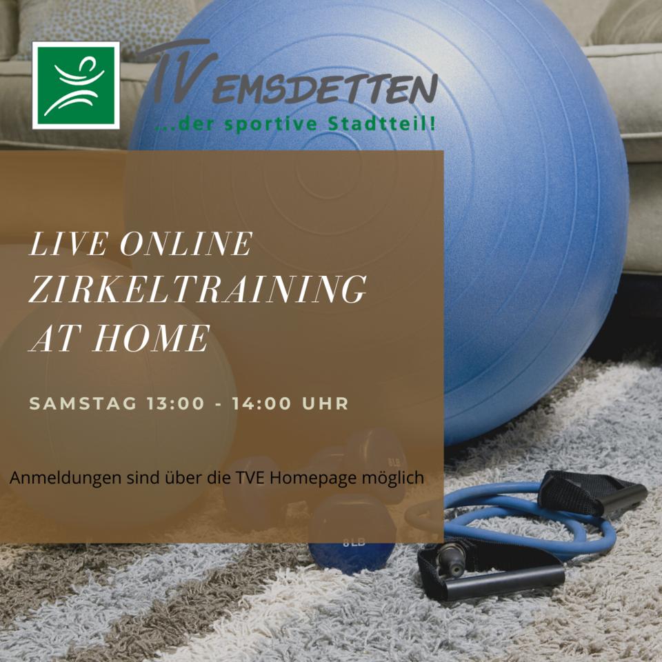 Zirkeltraining für zuhause - Live Online am Samstag